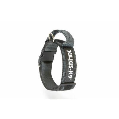 Color & Gray® nyakörv - biztonsági zárral és fogóva, fekete-szürke 49-70 cm