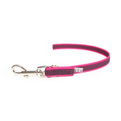 Color & Gray® póráz, pink-szürke, 20 mm széles, 0,45 m hosszú, fogó nélkül